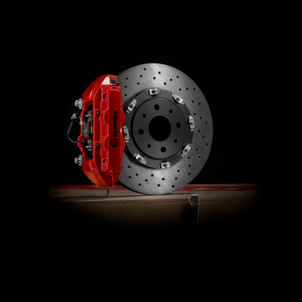 Kit Sistema Frenante Originale Abarth Brembo Rosso