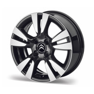 "Cerchi in Lega neri Ashera 16"" Originale Citroen DS3"