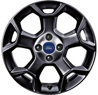 Cerchio in Lega 16 Pollici Panther Black a 5 Razze a Y Originale Ford Ka