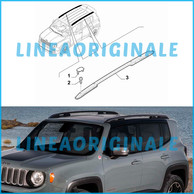 Barre Longitudinali Tetto Colore Nero Originali Jeep Renegade