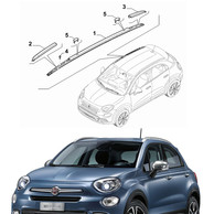 Barre Longitudinali Cromate Satinate Originali Fiat 500X Mirror