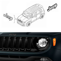 Kit Ricambi Nero Lucido Originali Jeep Renegade