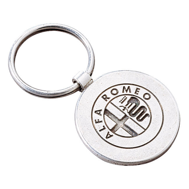 Portachiavi In Metallo Bifacciale Originale Alfa Romeo
