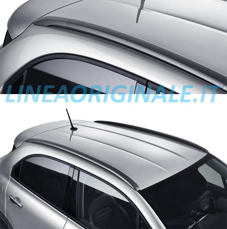Barre longitudinali nere su tetto Fiat 500X - Linea Originale