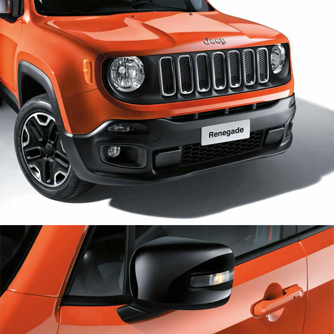 Battitacco ORIGINALE Jeep Renegade acciaio satinato con logo